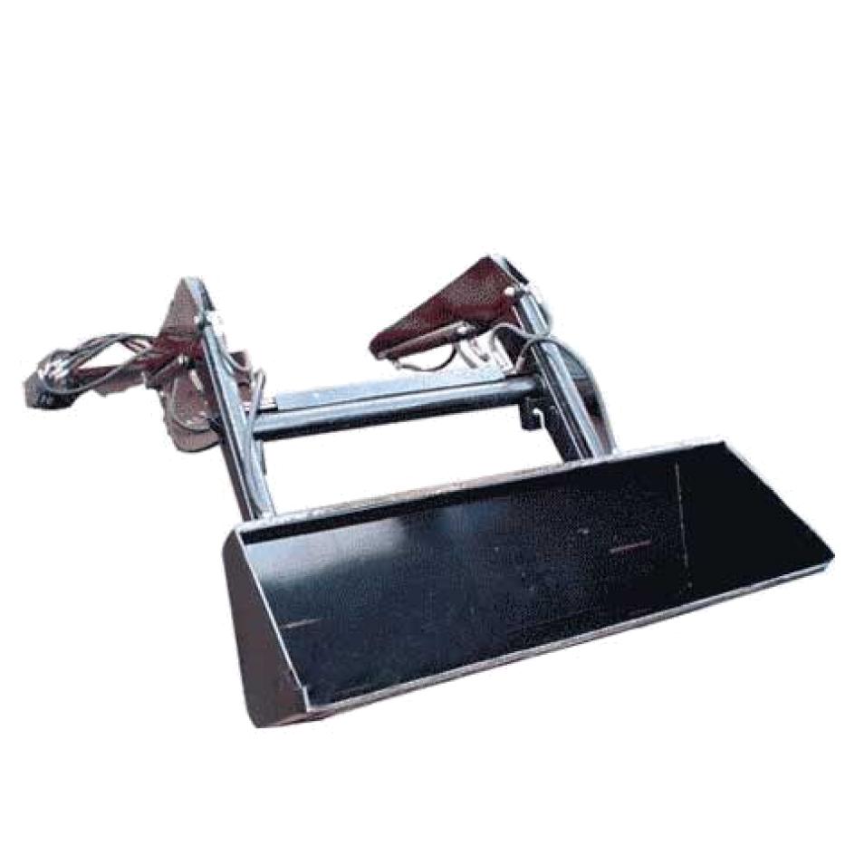 Гидравлический ковш с креплением на вилы погрузчика.