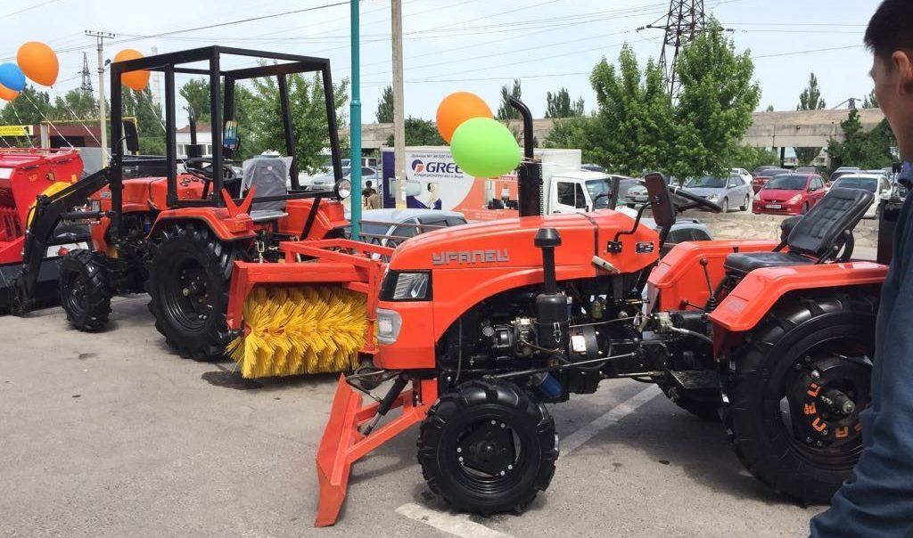 Exhibition of Uralets micro-tractors in Kyrgyzstan