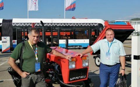 Минитрактора Уралец принимают участие в международной выставке на симмите Россия-Африка в Сочи